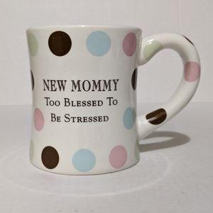 "Grasslands Road White Dots ""New Mommy"" Large Mug"